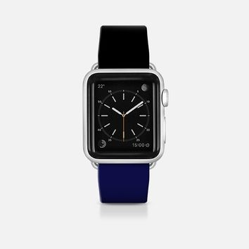 Classy black and navy  - Bicolor collection Apple Watch Band (42mm)  by WAMDESIGN | Casetify