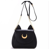 CUTE LUNA CAT PURSE (2 COLORS)
