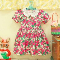 Marcelle Red Floral Dress