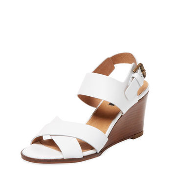 Odin Leather Wedge Sandal by Ava & Aiden at Gilt