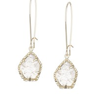 Cathy Earrings in Crackle Crystal - Kendra Scott Jewelry