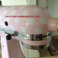 "Kitchen Mixer / Appliance Removable Vinyl Decal / Sticker - 81 3/4"" Polka Dots (for Cuisinart, KitchenAid, Kitchen Aid, other appliances)"