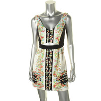Impulse Womens Cut-Out Floral Print Casual Dress
