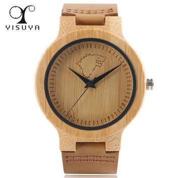 YISUYA 2017 Wooden Watches Game of Thrones Wolf Theme Simple Original Nature Wrist Watch Sport Clock Xmas Gift Winter is Coming