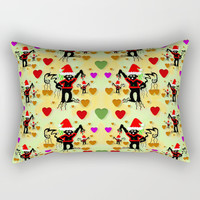 Santa with friends and season love Rectangular Pillow by Pepita Selles