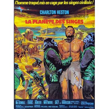 Vintage Planet of the Apes French Release Poster//Classic Movie Poster//Movie Poster//Poster Reprint//Home Decor//Wall Decor//Vintage Art