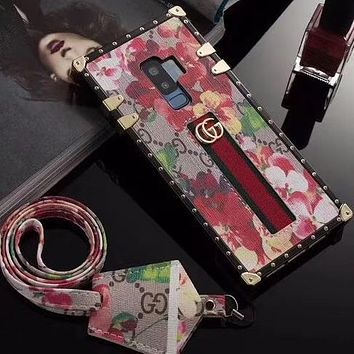 Perfect Gucci Fashion  Phone Cover Case For Samsung S9/S9+  iphone 6 6s 6plus 6s-plus 7 7plus 8 8plus X
