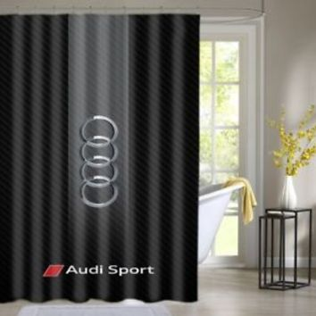 Audi Sport Automotive Stripes Shower Curtain Waterproof High Quality 60 x 72