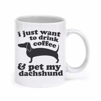 Dachshund Mug Dog mugs coffee  home decal tea art Dishwasher&Microwave Safe beer mugen