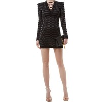 Balmain Lace-Up Bodycon Dress | Harrods