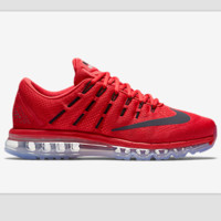 """NIKE"" Trending AirMax Toe Cap hook section knited Fashion Casual Sports Shoes Red black hook(transparent soles)"