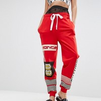 ASOS Motocross Jogger with Jumbo Mesh Waistband at asos.com