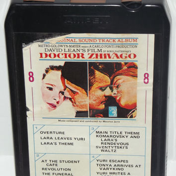 Doctor Zhivago Soundtrack Original 8 Track Stereo Tape Cartridge Cassette David Lean Film MGM AMPEX L86 Play-tested Works
