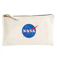 NASA Canvas cosmetic zip purse pencil Space explorer, science pen bag holder | eBay
