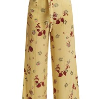 Floral-print silk crepe de Chine trousers | Valentino | MATCHESFASHION.COM UK