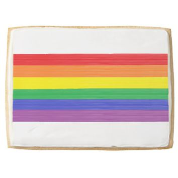 Painted Rainbow Flag Jumbo Shortbread Cookie