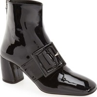 Miu Miu Wrapped Buckle Square Toe Bootie (Women) | Nordstrom