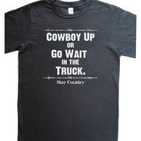 "Men's ""Smoke"" Gray Cowboy Up Tee"