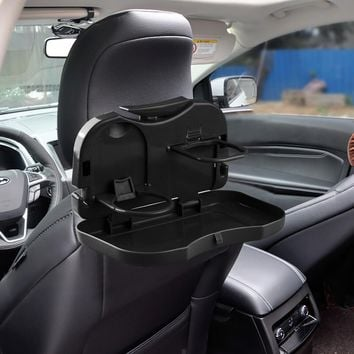 Folding Auto Car Back Seat Table Drink Food Cup Tray Holder Stand Desk