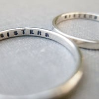 Personalized Ring - Simplified Resolution Ring - single, sterling silver