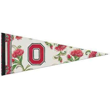 "OHIO STATE BUCKEYES DECOR ROLL UP PREMIUM FELT PENNANT 12""x30"" NEW WINCRAFT"