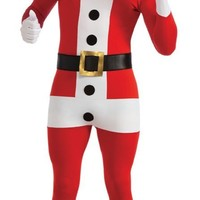 Santa Claus Suit Christmas Second Skin Zentai Supersuit Adult Bodysuit Costume
