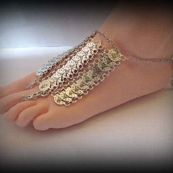Turkish Coin anklet- coin barefoot sandal-kuchi anklet-ethnic anklet-bohemian anklet-boho bracelet-slave bracelet-slave anklet-1 pcs
