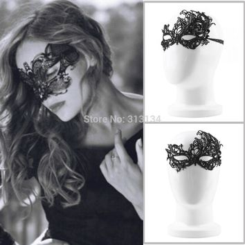 2pcs New Design Women Costume  Eye Mask Sexy Lace Eye Mask Venetian Masquerade Ball Halloween Fancy Dress Costume