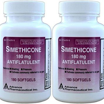 Simethicone 180 mg 360 Softgels Anti-Gas Generic for Phazyme Ultra Strength Fast Relief of Stomach Gas...
