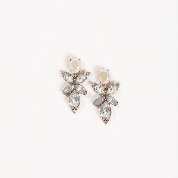 Peyton Taupe Crystal Earrings
