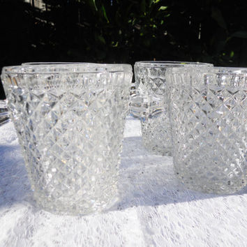 Set of 4 Ice Buckets Crystal Clear Party Barware Table Wedding Setting Shower Party
