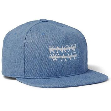 Know Wave Denim Snapback Hat