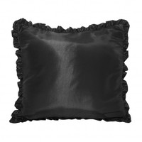 Wake Up Frankie - Ruffled Taffeta Euro Sham : Teen Bedding, Pink Bedding, Dorm Bedding, Teen Comforters