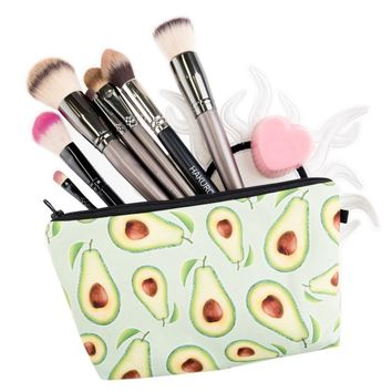 Avocado Cosmetic Zipper Bag