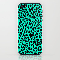 Neon Mint Leopard iPhone & iPod Skin by MN Art | Society6