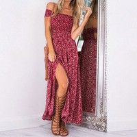 Kaitlyn Off-shoulder Floral Maxi Dress