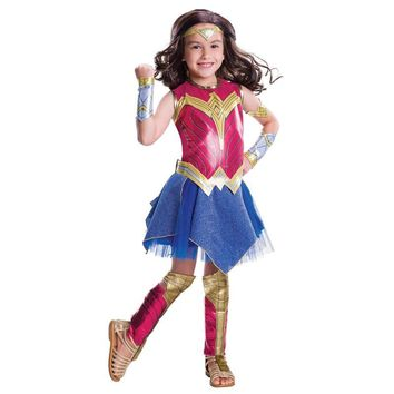 Cool Child Dawn Of Justice Wonder Woman Cosplay Costume for Girls Wonder Woman Halloween Costume for Kids Short Sleeve Dress for KidsAT_93_12