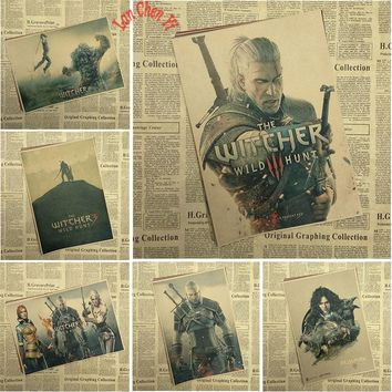 The Witcher 1 Classic Game Kraft Paper Poster Bar Cafe Living Room Dining room Decorative Paintings