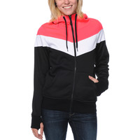 Empyre Girls Insignia Pink & Black Tech Fleece Jacket at Zumiez : PDP