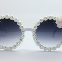 Women's Cute Lovely Summer Style Hot Fashion Fimo Flower Sunglasses = 4672233732