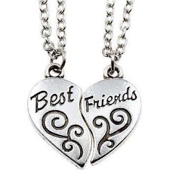 Christmas Gifts Friendship Chocker Necklace Broken Heart Pendant Necklaces for Best Friends Mixed Designs -Christmas gifts