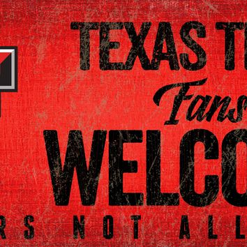 Texas Tech Red Raiders Wood Sign