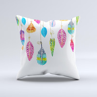 The Hanging Feathers ink-Fuzed Decorative Throw Pillow