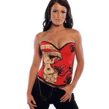 DCCKIX3 Shaper Body Waist Classics Sexy Red Cartoons Girl Pattern Corset [4965296644]