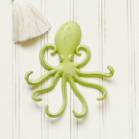 Octopus Wall Hook - Choose Your Color - Colorful Cast and Crew