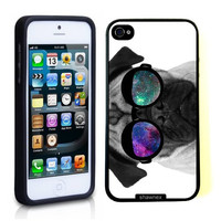 iPhone 5 5S Case ThinShell TPU Case Protective iPhone 5 5S Case Shawnex Pug Geek Space Hipster Galaxy