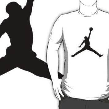 CREYUG7 #ab air michael jordan black silhouette white t-shirt