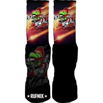 Rufnek Hardware Fly Hard Marvin Martian 7's Socks