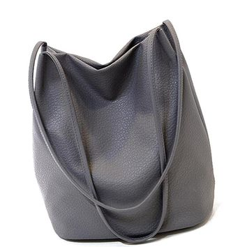 Bucket bag Leather Shoulder Ladies Cross Large Capacity Ladies A40-328
