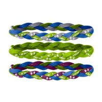 Under Armour Women's UA Braided Mini Headbands - 3pk One Size Fits All HYPER GREEN